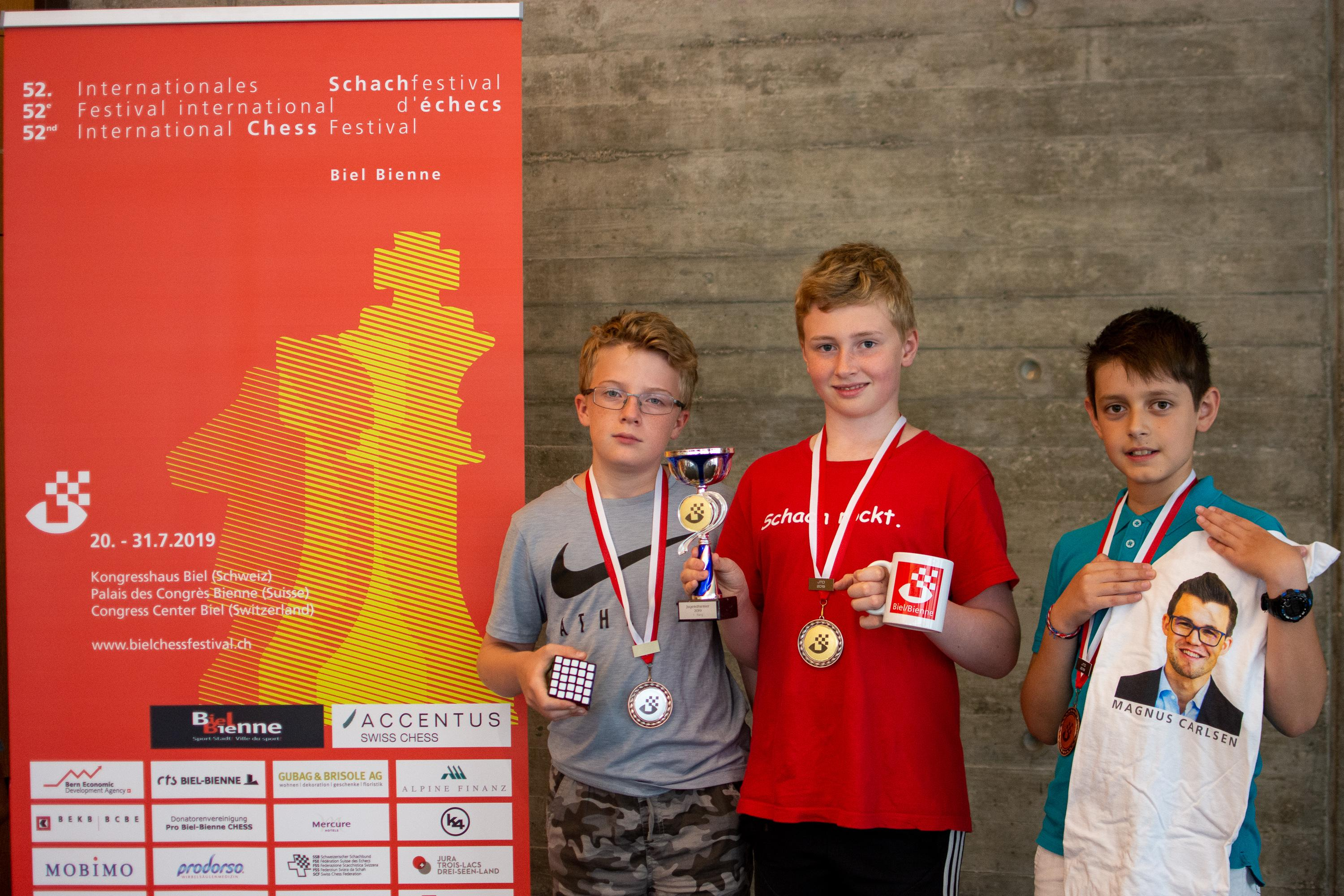 Image Podium U13- (from the left) Papaux Steve (3nd, SUI), Prieb Robert (1st, GER), Zafeiridis Athanasios (3nd, GRE)
